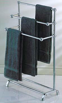 Taymor 01 1085 Freestanding 3 Tier Towel Rack Polished