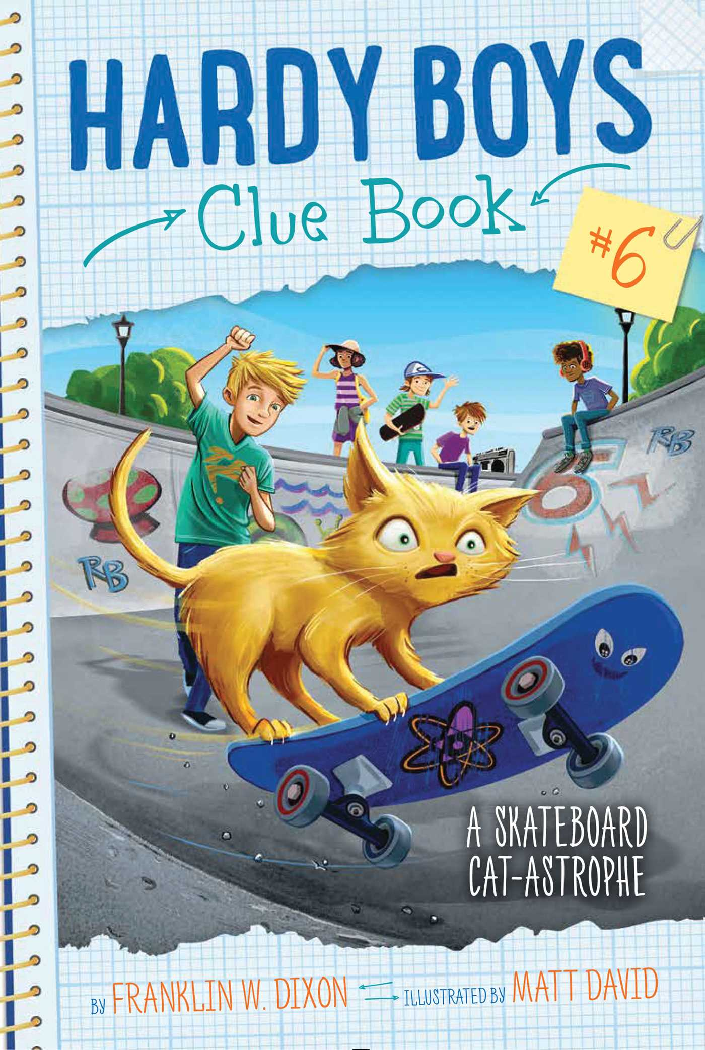 Hardy Boys Clue Book #6 A Skateboard Cat-Astrophe Details and Cover Art