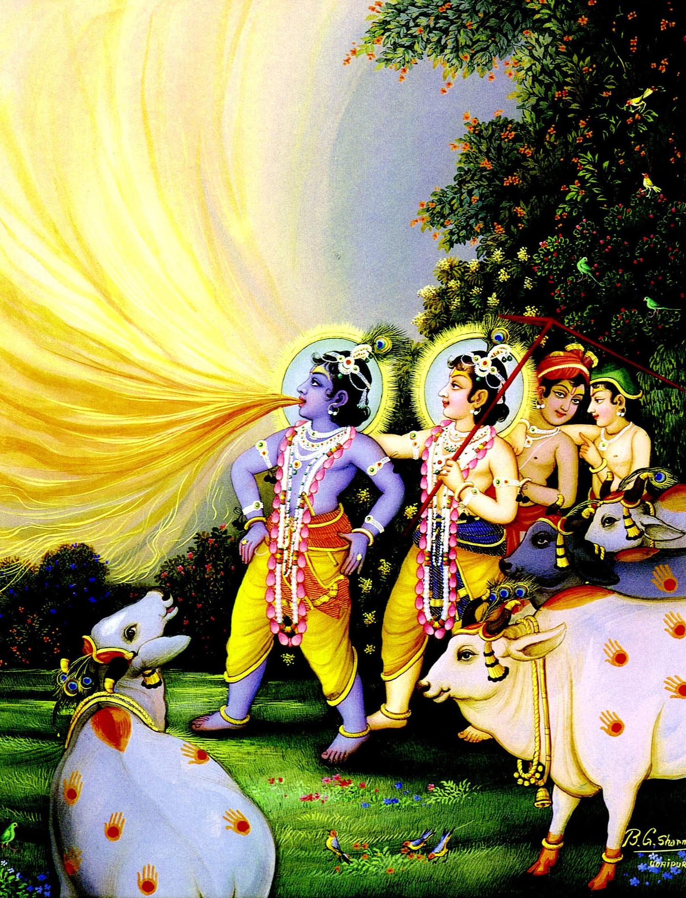 The Transcendental Art Of B G Sharma The Hare Krishna