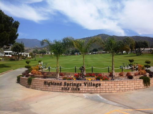 Highland Springs Village Golf Cherry Valley California