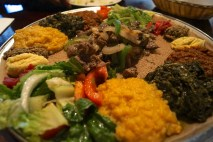 split peas | lentils | collard greens | salad | lamb photo courtesy of The Harrises of Chicago