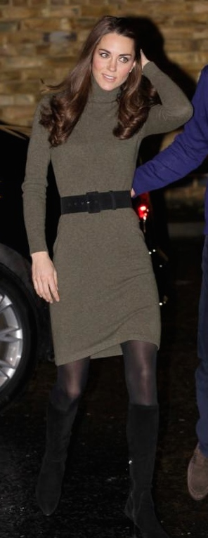 Wearing a Ralph Lauren dress to a charity event with Prince William