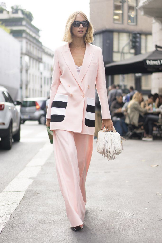 Hautemommie inspired by Candela Novembre to wear pink suit