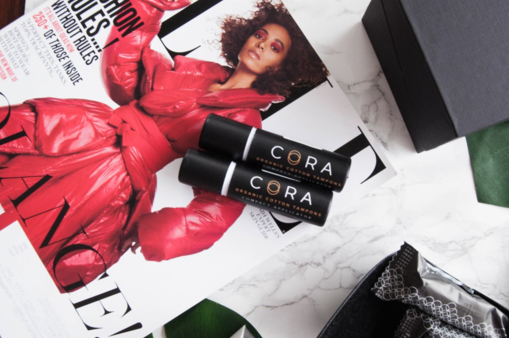 Lifestyle blogger Hautemommie tries out Cora women, check the blog for more details.