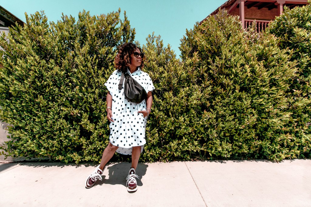 Louis Vuitton sneakers, polka dot trend, black blogger, style, fashion blog