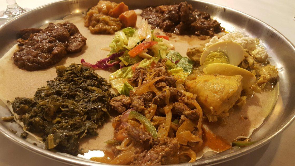 plate of Ethiopian food