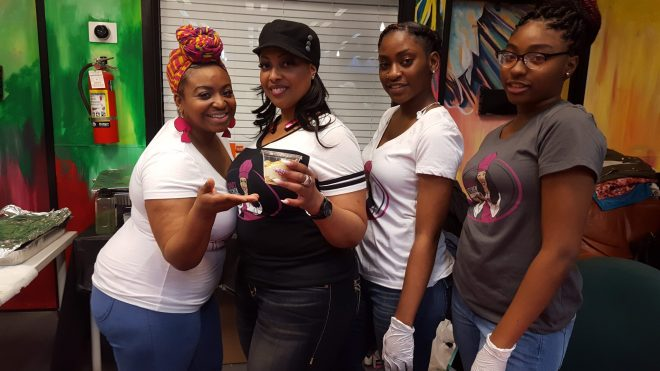 The ladies of Tacana Kitchen.Black chefs from Chicago featured at Foodie Heaven
