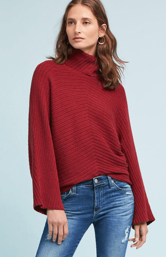 Anthropologie, Tisbury Turtleneck Pullover