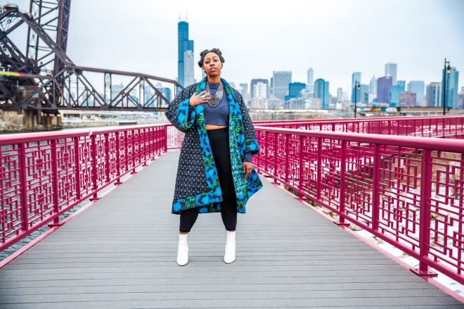 Big quilted coat by Kenzo x HM as seen on The Haute Seeker in Chicago_5