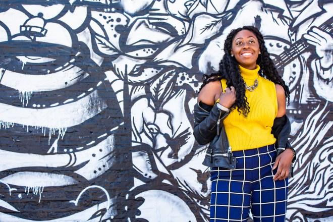 Girl-Smiling-Yellow-Turtleneck-sleeveless