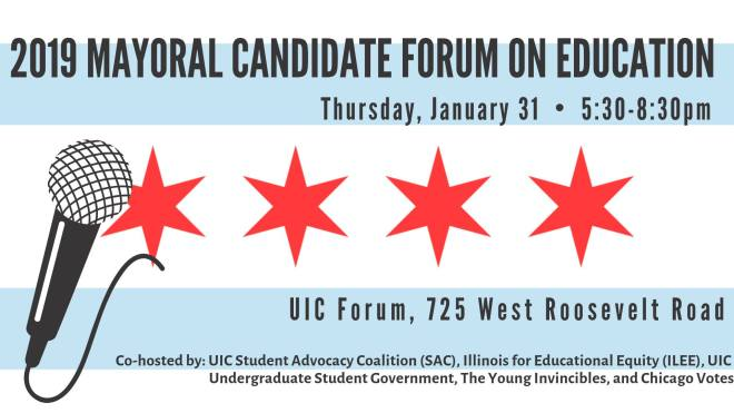 flyer-mayoral-candidate-forum-education-chicago-January-events-thehauteseeker