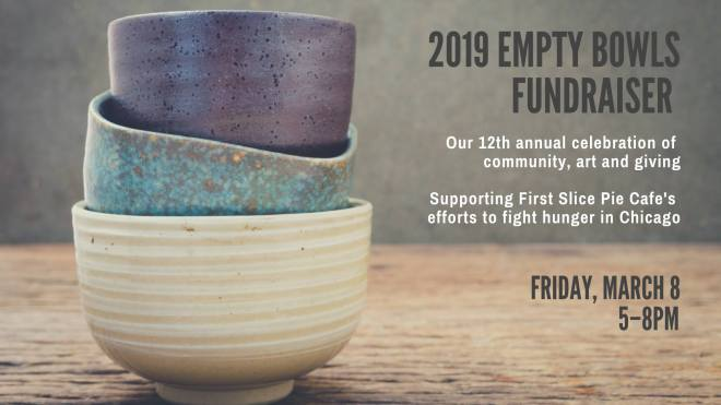 2019 Empty Bowls Fundraiser flyer in the March Guide of Events in Chicago 2019 on TheHauteSeeker.com