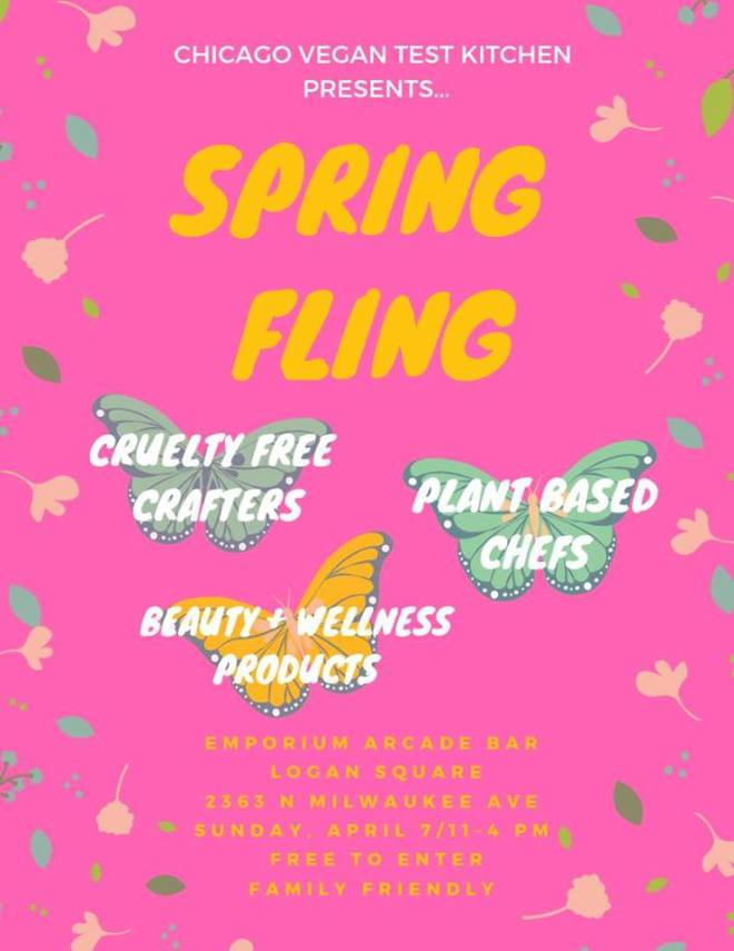 Chicago Vegan Test Kitchen Spring event two featured in Chicago April 2019 Events Guide by The Haute Seeker