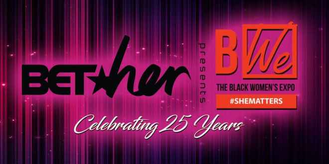 Flyer for 25th anniversary of black womens expo in chicago featured in Chicago April 2019 Events Guide by The Haute Seeker