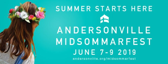 Andersonville Midsommarfest flyer in featured in The Haute Seekers Things To Do this Weekend in Chicago June 6th - 9th