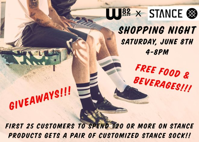 W82 x Stance shopping night featured in The Haute Seekers Things To Do this Weekend in Chicago June 6th - 9th