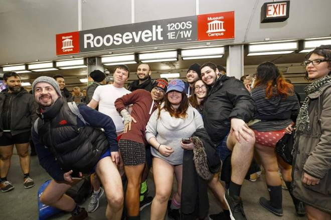 The No Pants Subway Ride as featured in the January Events Guide for 2020 by The Haute Seeker