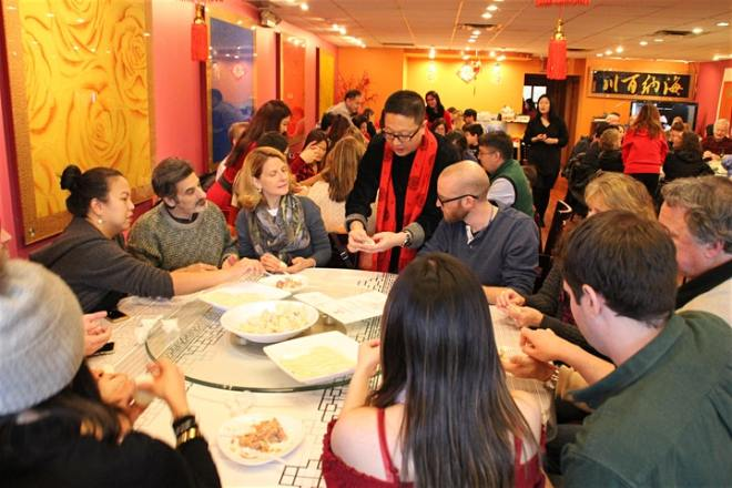 Chinese New Year Dumpling making dinner Chicago Chinese Cultural Institute featured on The Haute Seeker