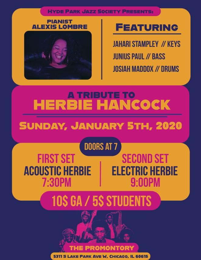 Herbie Hancock Tribute Hyde Park Jazz Society as featured on The Haute Seeker