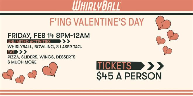 Whirlyball flyer in Chicago Valentines Day The Haute Seeker