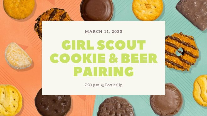 Bottle Up Girl Scout Cookie and beer pairing Chicago as featured on The Haute Seeker during Women's History Month