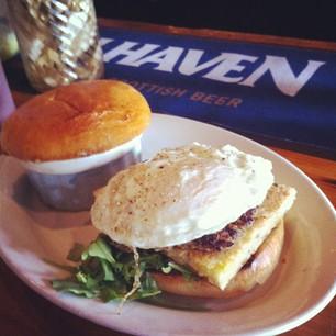 The Haven breakfast sandwich