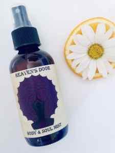 bottle of chakra healing mist heaven's door