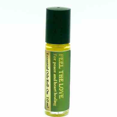 feel the love essential oil roll on for heart chakra