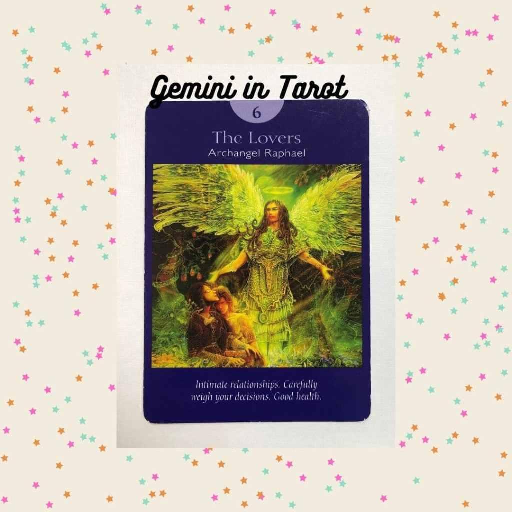 The Lovers tarot card represents Gemini