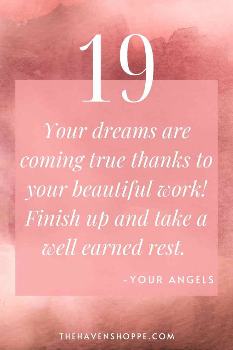 pinnable angel number 19 message