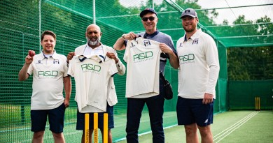 New cricket nets opened at Central Park.
