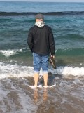 Standing in the surf of the Mediterranean. I am always drawn to the water.