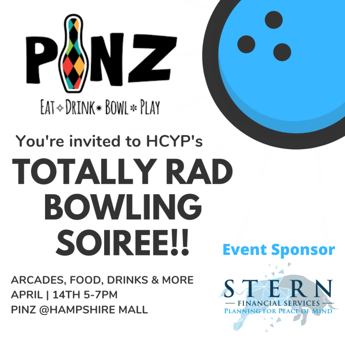 Let's socialize with our colleagues! April _ 14th 5-7pm Pinz @Hampshire Mall
