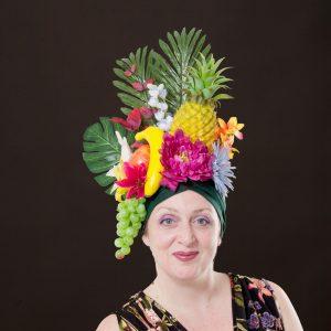 Pineapple Turban, elaborate headwear