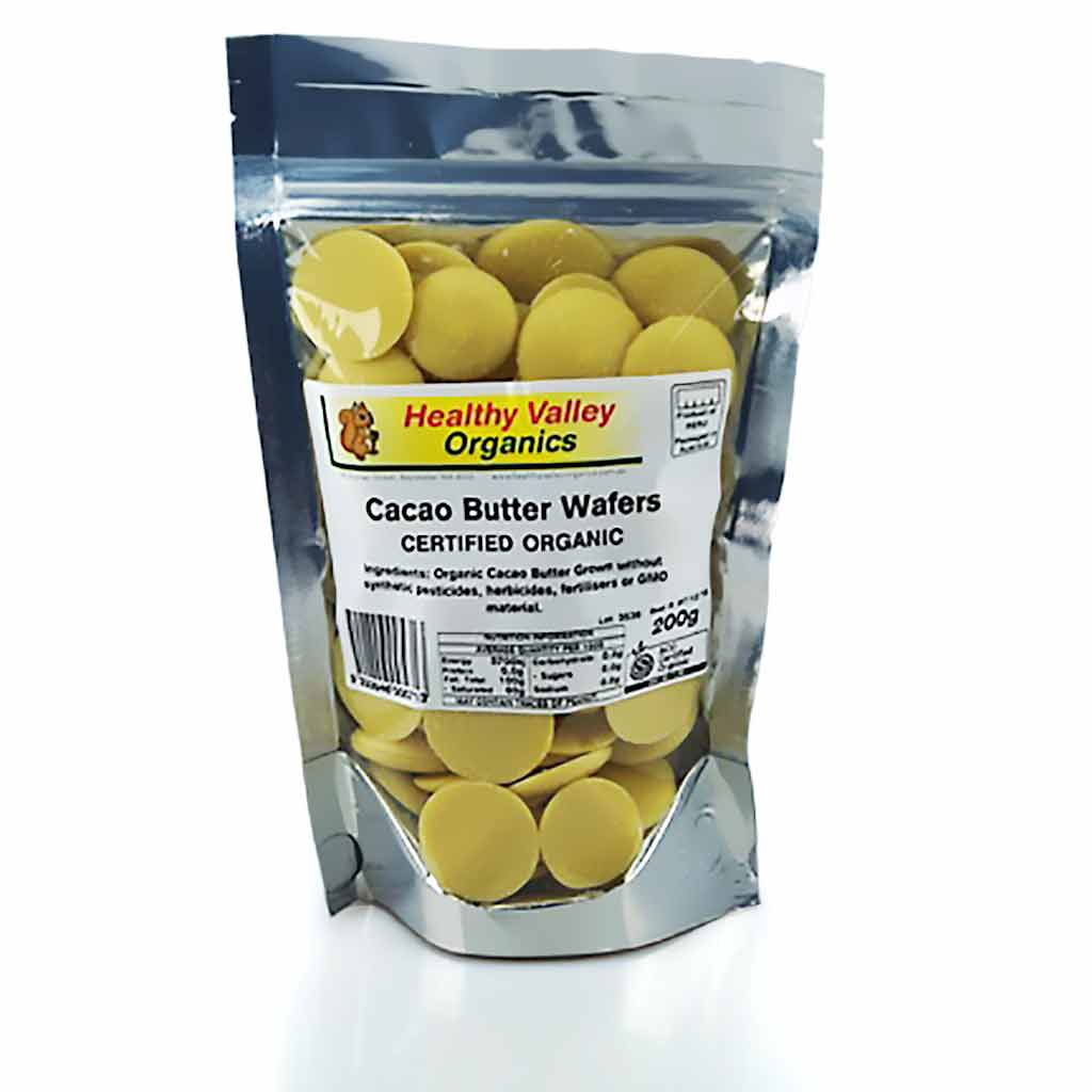 Healthy Organics Cacao Butter Wafers 200gm
