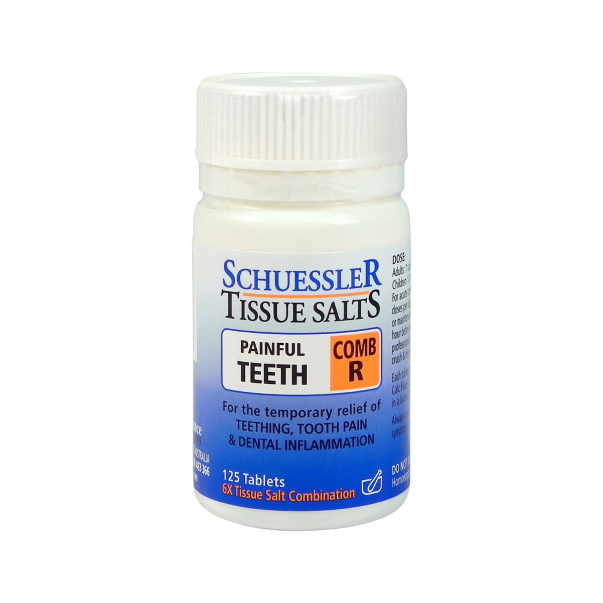 Schuessler Tissue Salts Comb R (Painful Teeth) 125t