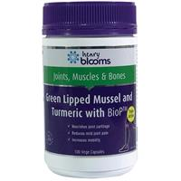 Henry Blooms Green Lipped Muscle And Tumeric With BioP 100 V Caps