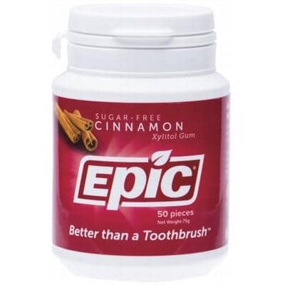 Epic Xylitol Chewing Gum Cinnamon 50 Pieces