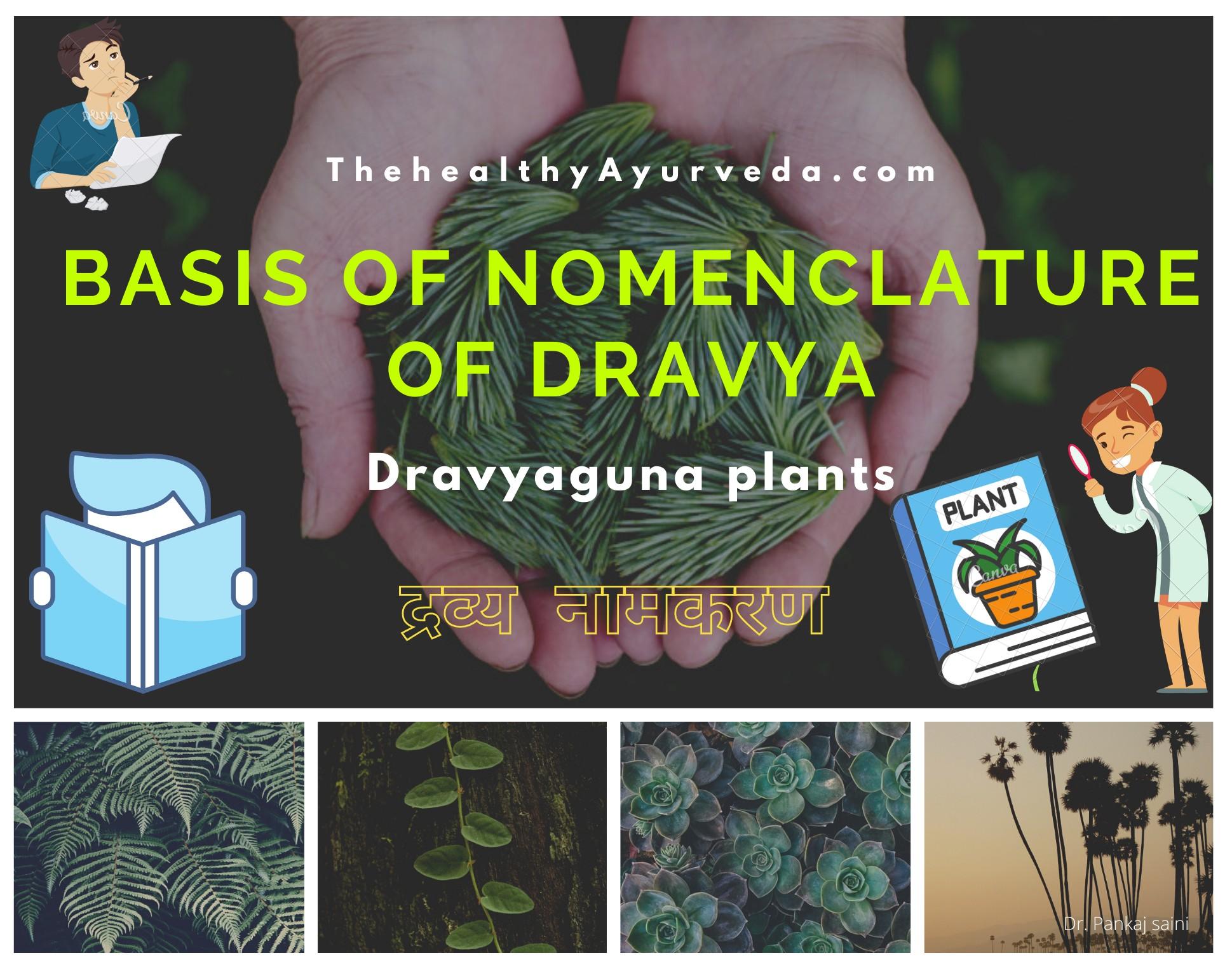 Dravya Namkarana | Basis of Nomenclature of Dravya guna vijāna
