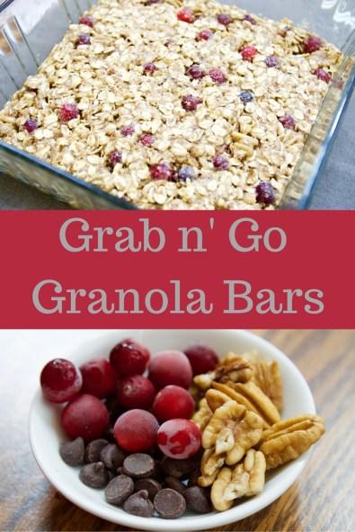 Grab n' Go Granola Bars