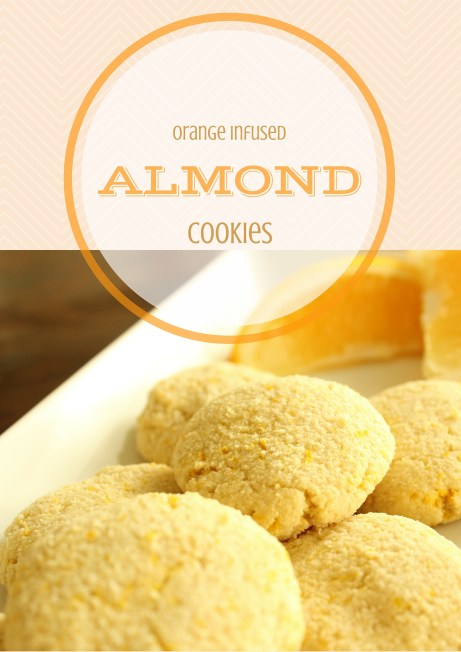 Orange Infused Almond Cookies