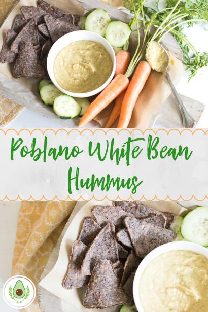 Poblano White Bean Hummus