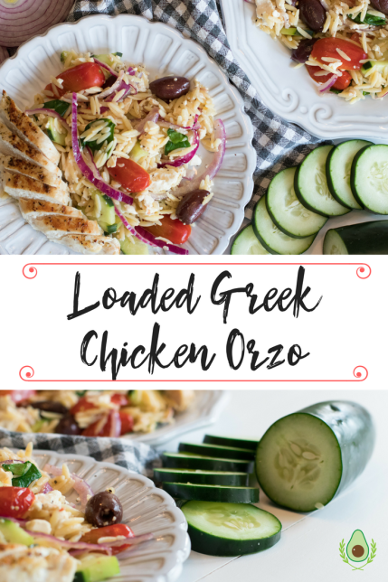 Loaded Greek Chicken Orzo