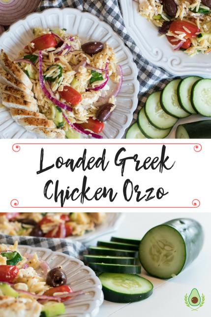 Loaded Greek Chicken Orzo