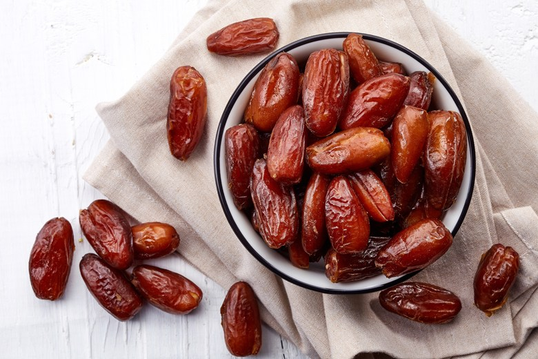 Bowl of dried dates