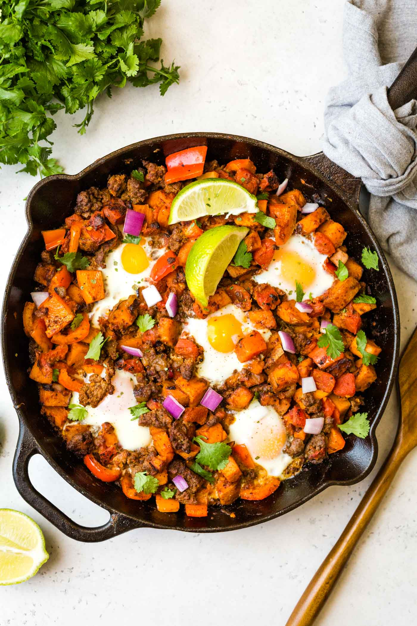 Loaded Sweet Potato Sausage Hash