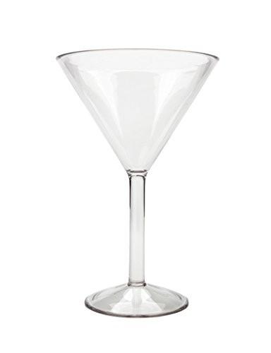 Unbreakable Martini Glasses Set of 4 BPA Free Reusable Dishwasher Safe 9.5 ounce