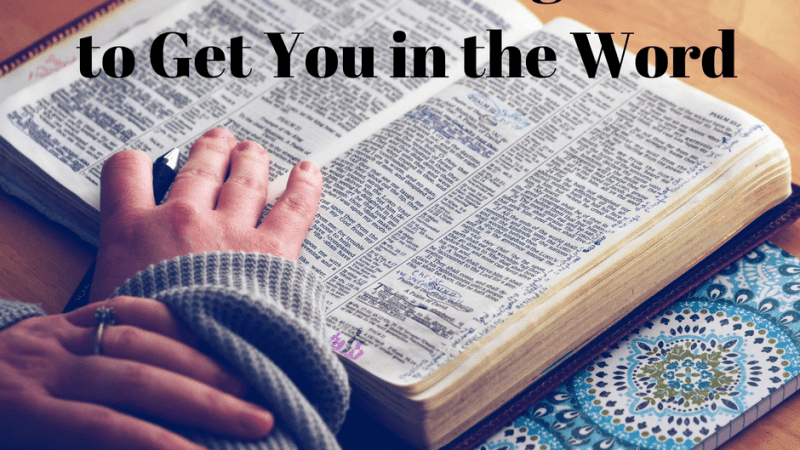 10 Bible Reading Plans to Get You In the Word
