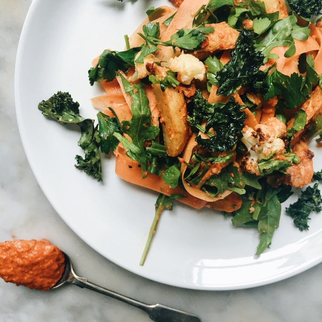 Romesco Potato and cauliflower salad
