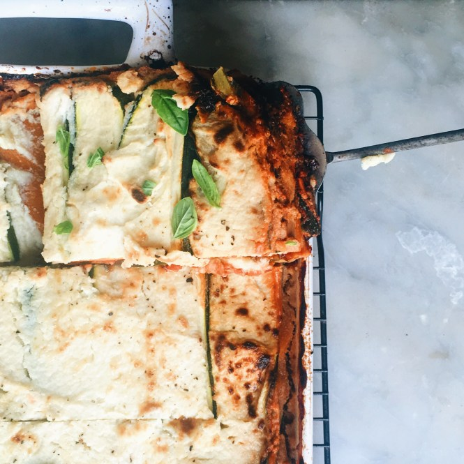 Vegetarian lasagne with eggplant ragu and cauliflower sauce 9